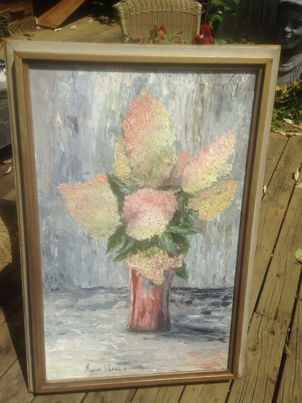 Mid-Century Oil Painting $40 43x29 in frame for Sale in
