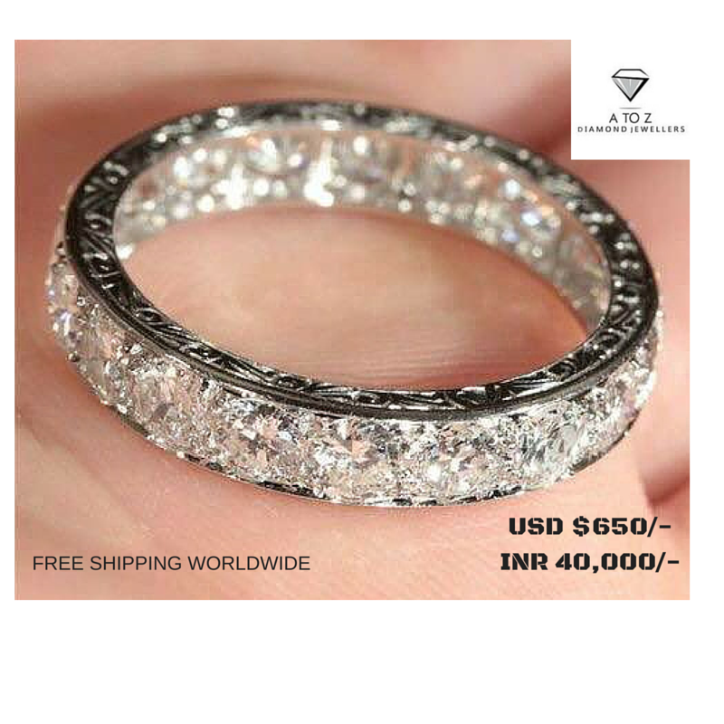 #jaipuratozdiamonds #diamondband Amazing Handmade Real DiamondBand made up in Sterling Silver. The Color is I Color, Vs Clarity. The Diamond Weight is 1.25 ct. We are the manufacturers of High Quality Diamond Jewellery.