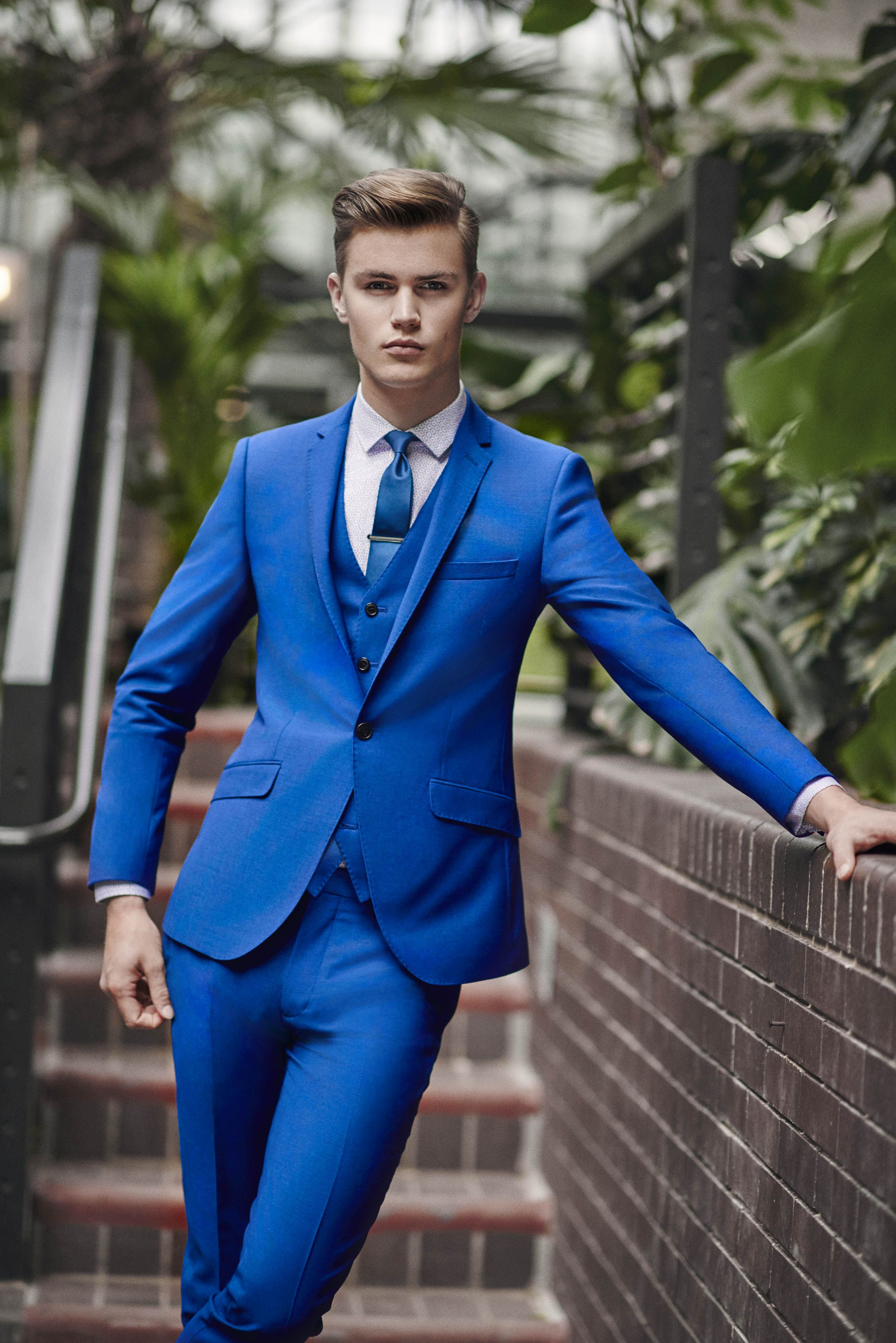 Moss London Skinny Fit Ink Double Breasted Suit | Moss bros and ...
