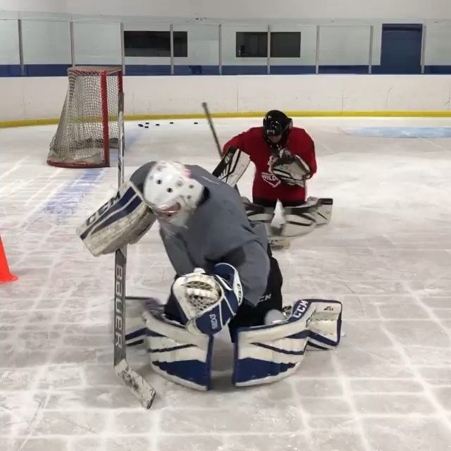 Low Tracking Rvh Recovery Drill For Goalies Hockey Goalie