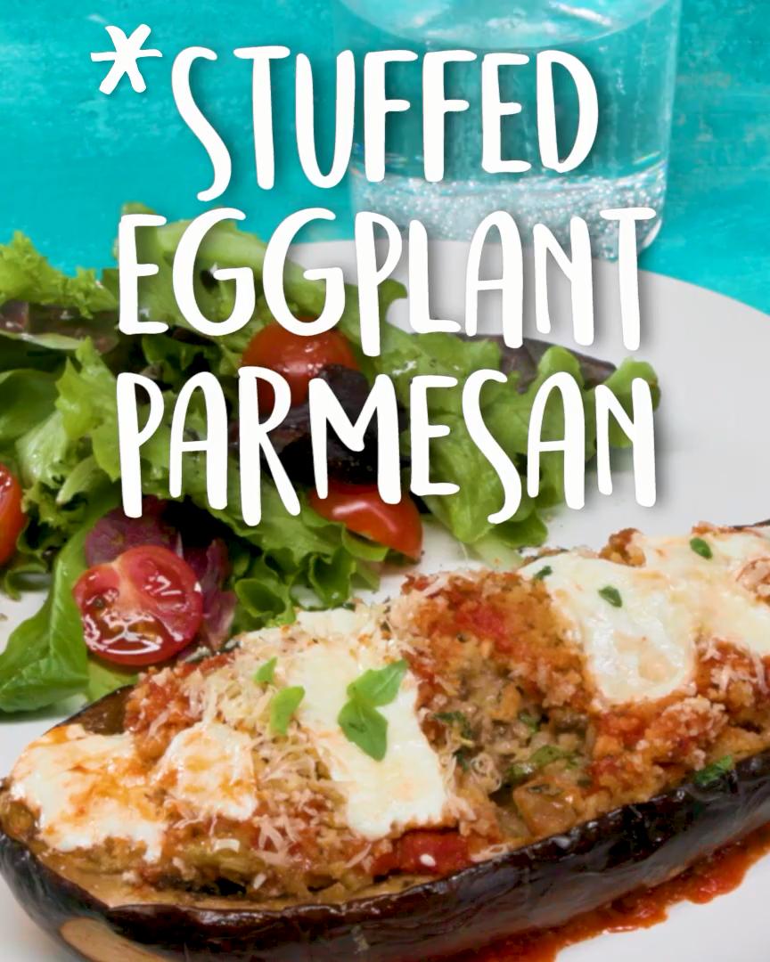 Eggplant Parm But Better Stuffed Eggplant Parmesan