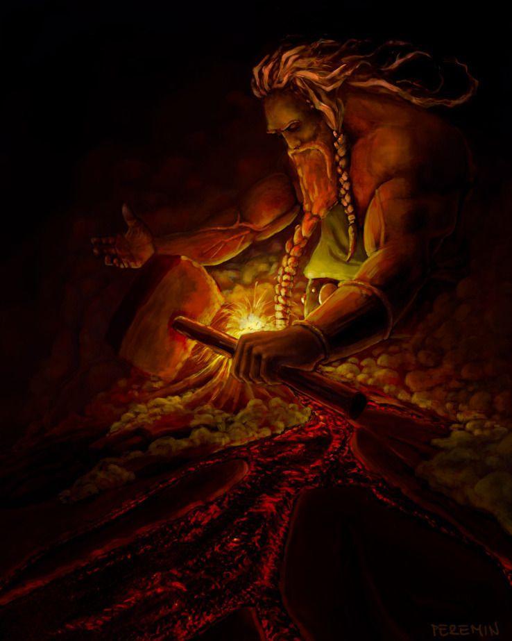 Personal Illustration of Ancient Greek God Hephaestus # ...