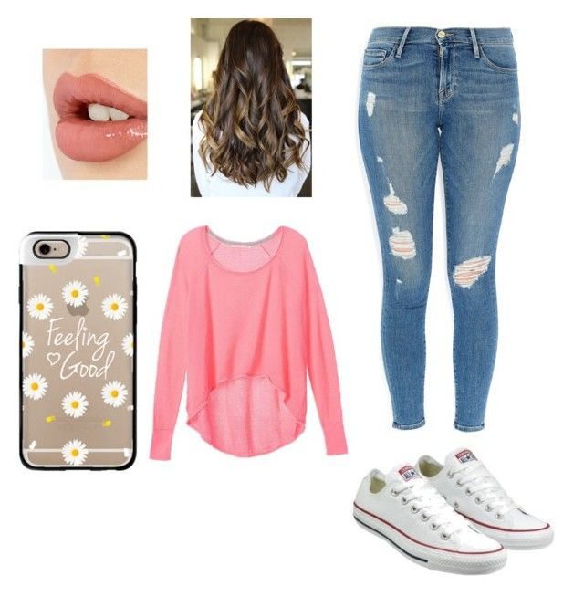 """""""Casual..."""" by kenzie240 ❤ liked on Polyvore featuring Converse, Frame Denim, Victoria's Secret, Charlotte Tilbury and Casetify"""