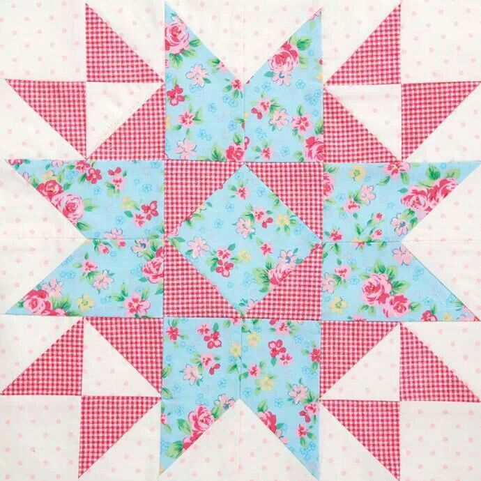 Quilt Block: Pink & Blue Star