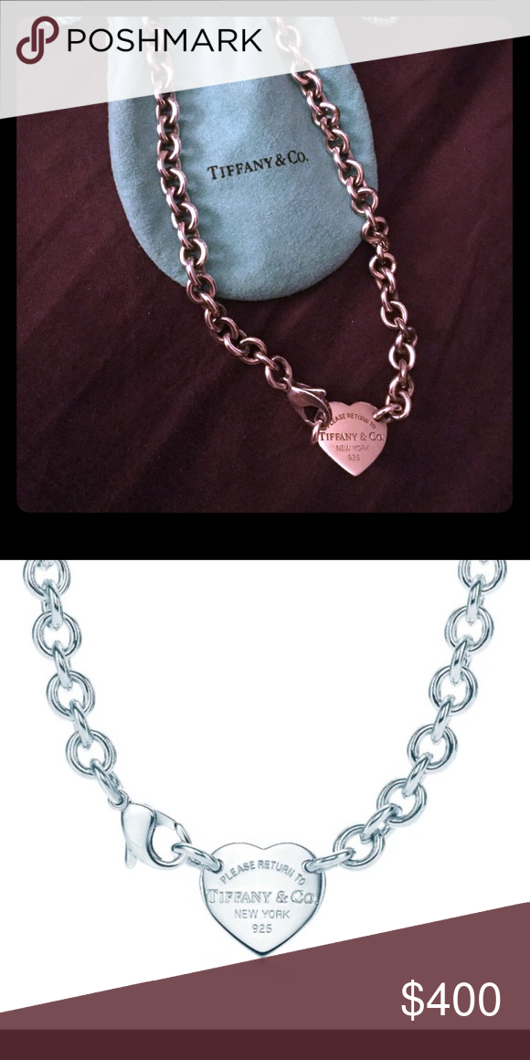 83bb16962f09c 💙Make Offer💙Authentic Tiffany &Co. Heart Choker Hardly used heart pendant  choker Tiffany & Co. Jewelry Necklaces