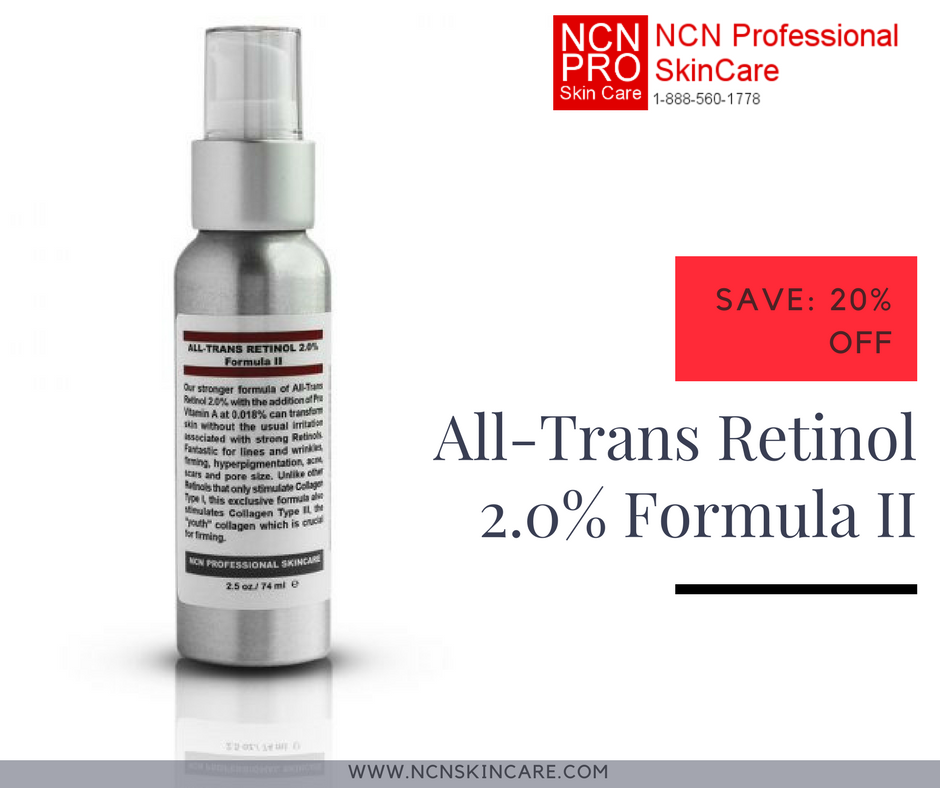 Our All Trans Retinol 2 0 Formula Ii With The Addition Of Pro Vitamin A Is The Strongest Otc Retinol You Can Professional Skin Care Products Retinol Skin Care
