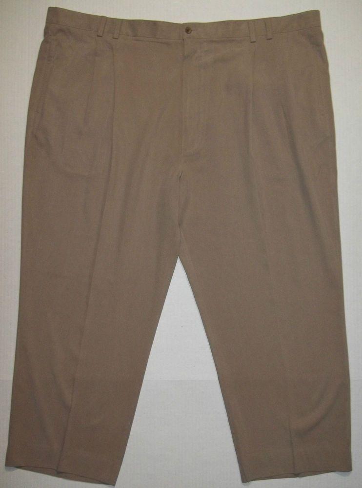 Joseph & Feiss Resort Big and tall 100% Silk pleated casual pants mens 52 x 29 #JosephFeiss #CasualPants