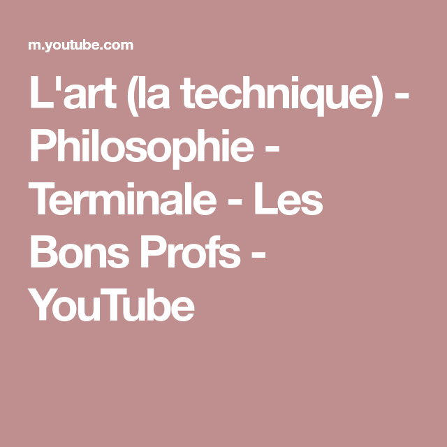 L'art (la Technique)