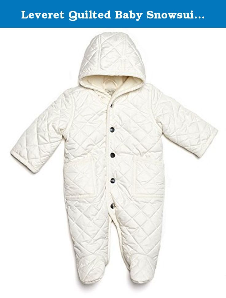 b833b8e6a514 Leveret Quilted Baby Snowsuit (6 Months
