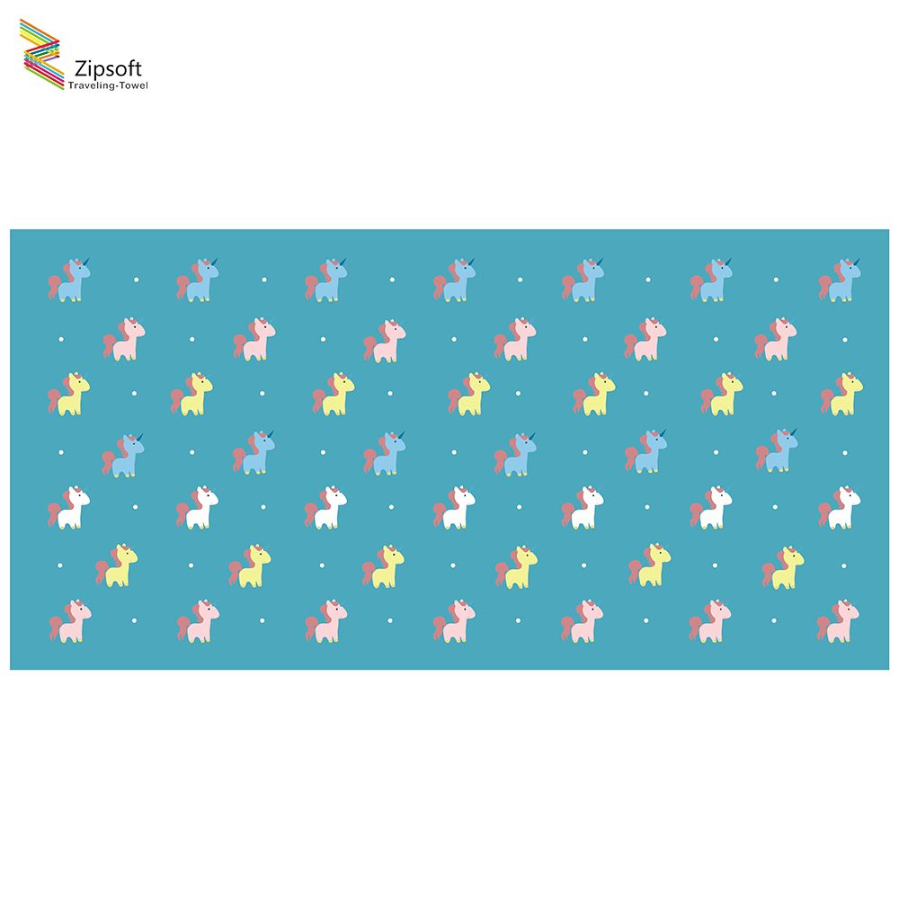 Zipsoft Children Beach Towel Unicorn Large Microfiber Towel 75