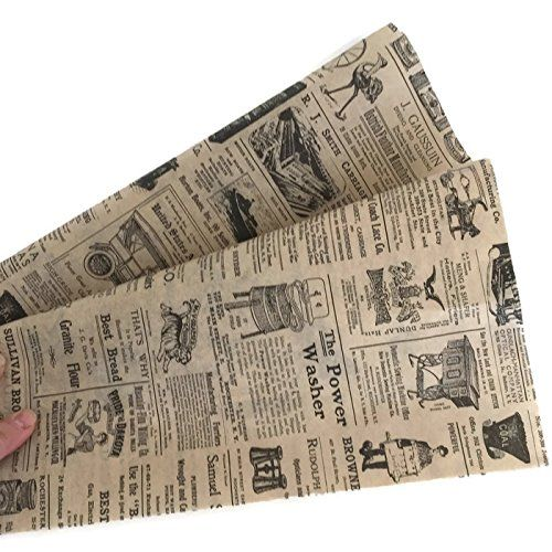Amazonsmile Tissue Paper For Gift Wrapping With Design Vintage Newspaper Black And Tan 24 Large Shee Vintage Newspaper Black And Tan Decoupage Tissue Paper