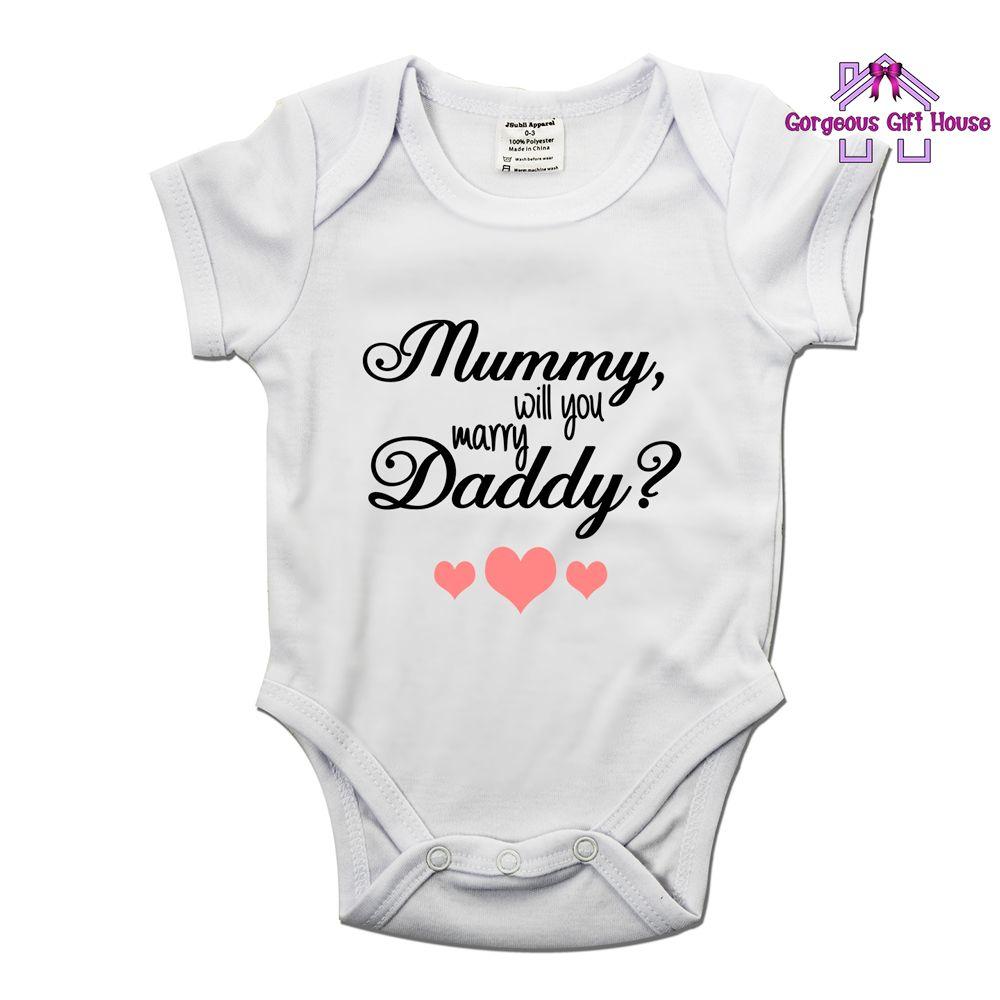 Mummy, Will You Marry Daddy Babygrow