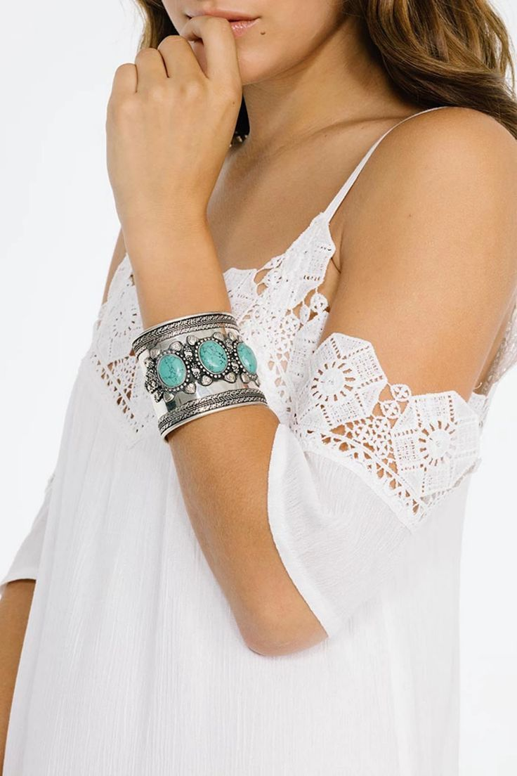 Love This Cuff Bracelet !! Triple Turquoise Stone Cuff |  Women Fashion  Accessories and Apparel | Keyomi-Sook #bracelet #cuffbracelet #armcandy #jewelry #stone #fashionjewelry #gemstone #Armswag #wristwear #braceletstack    #braceletswag #trendy #bohojewelry #bohostyle #Stylish #bohemian #boho #fashion #style #love #moda #model #photography #beautiful #beauty #instafashion #fashionista #instagram #cute #makeup #lifestyle #dress #design #handmade #girl