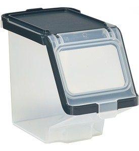 Plastic Storage Bin With Lid Storage Bins With Lids Stackable