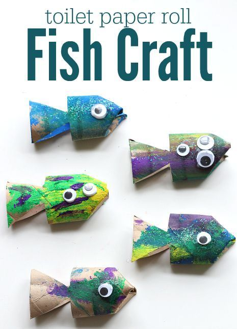 Toilet Paper Roll Fish Craft Paper Roll Crafts Fish Crafts