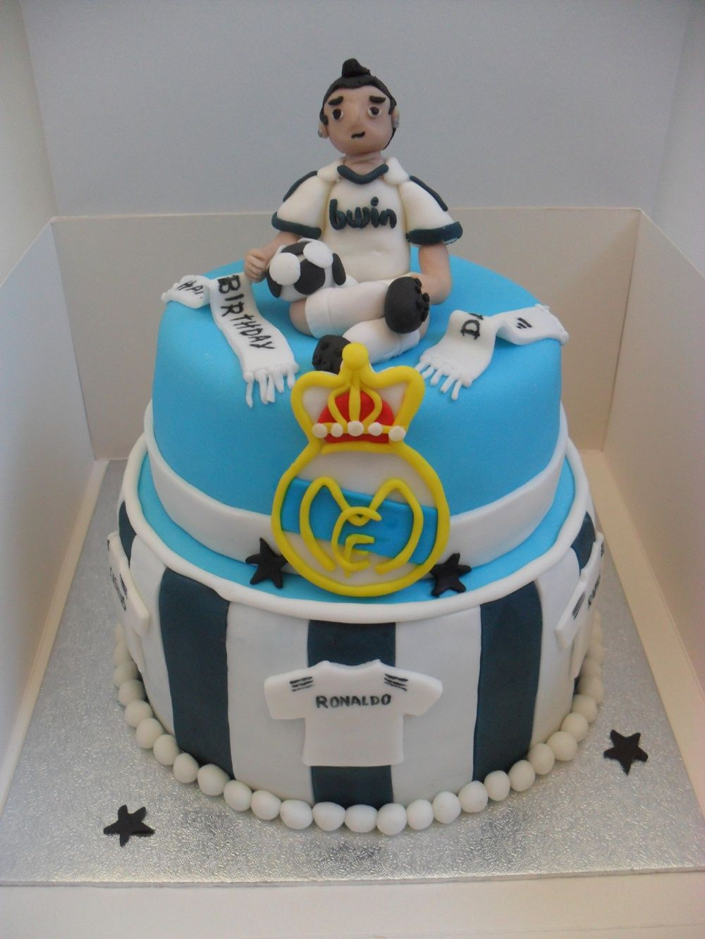 Real Madrid Cake Cakes  Cupcakes Pinterest Real Madrid Cake - Real birthday cake images