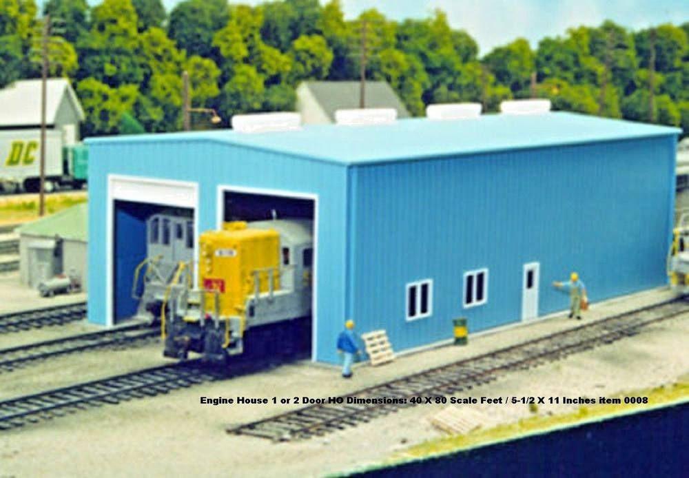 Pikestuff HO Modern 1 or 2 Door Engine House kit #Pikestuff