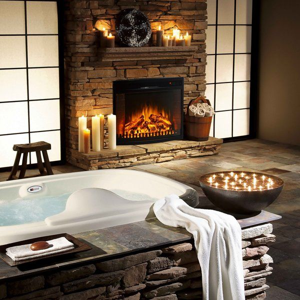 Perkins Wall Mounted Electric Fireplace Bathroom Fireplace Japanese Bathroom Design Romantic Bathrooms