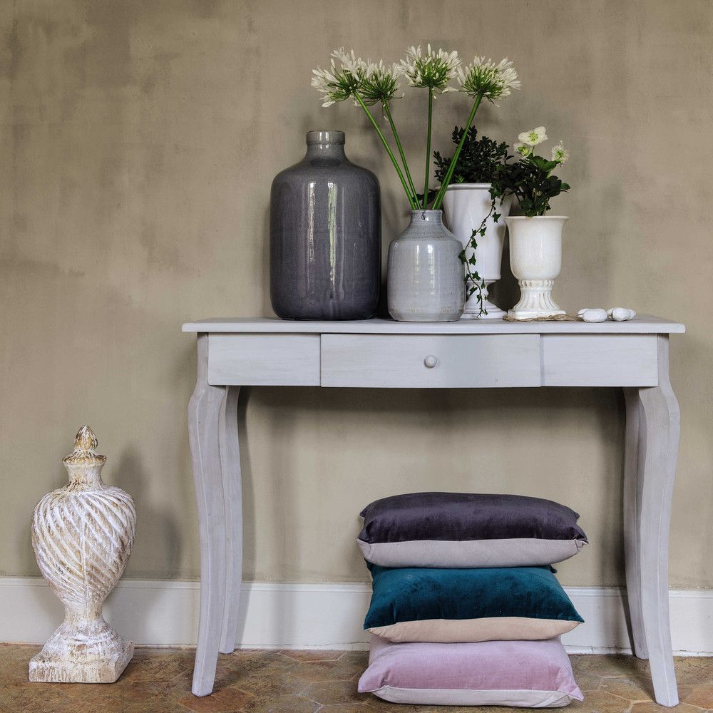 Grey Fir Wood Console | Hall & Landing | Wood, Console ...