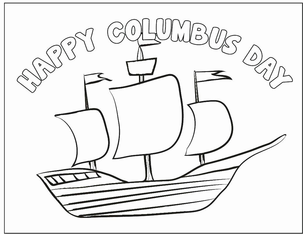 Christopher Columbus Ships Coloring Pages