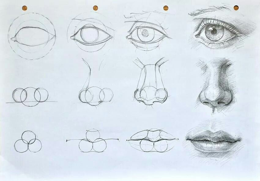 How To Draw Realistic Eyes Nose And Mouth Astar Tutorial