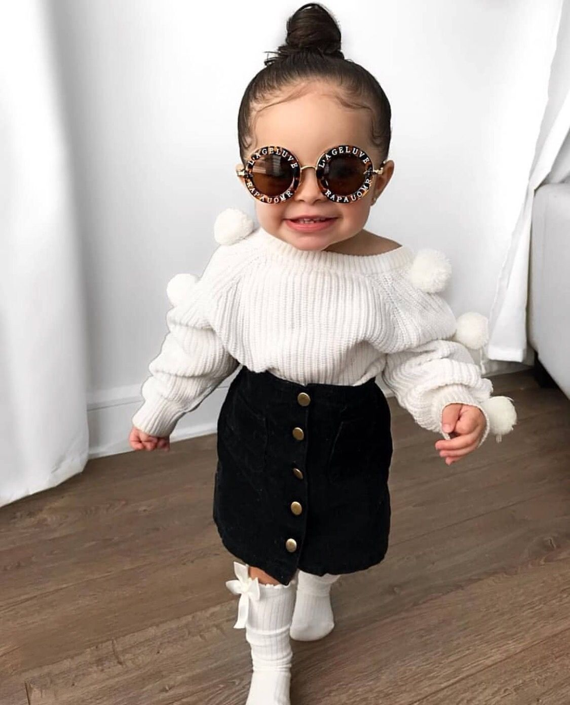 Nikita Pompom Knit  Kids outfits girls, Kids outfits, Cute little