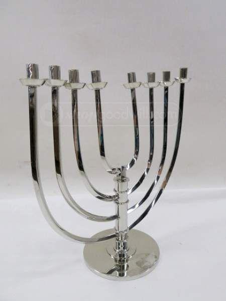 Silvertone Numbered Menorah The Jewish Museum