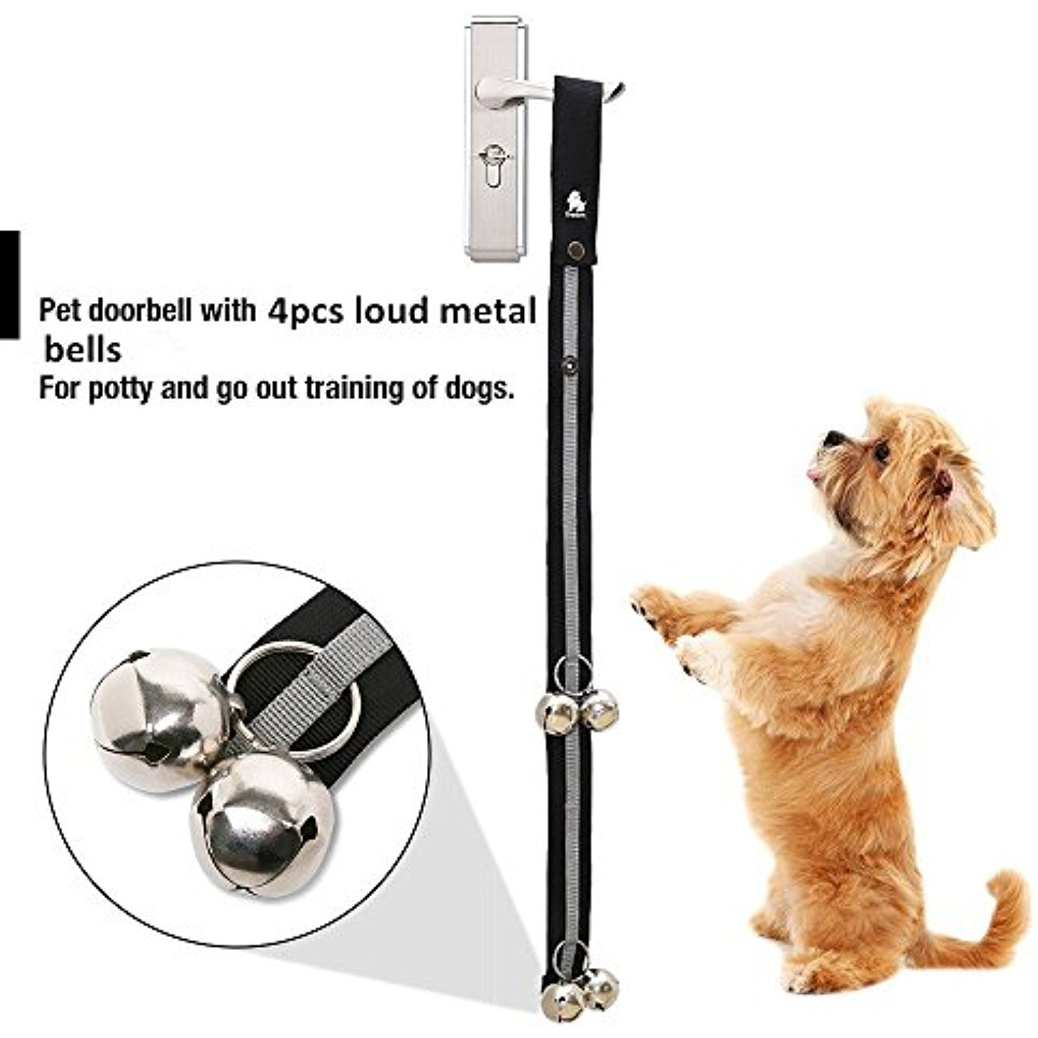 Pettom Dog Doorbells For Dog Training And Housebreaking 1 4 Dog