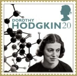 Resultado de imagem para SELO DE Dorothy Crowfoot Hodgkin,