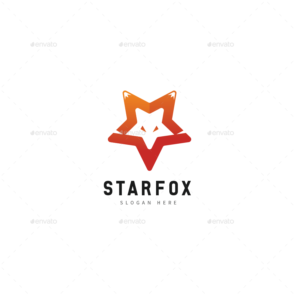 Fox Star Logo Preview Graphicriver In 2020 Star Logo Animal Logo Logos