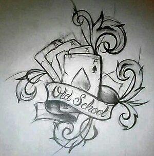 Old School Card Tattoo Designs Sketch Tattoo Design Card Tattoo