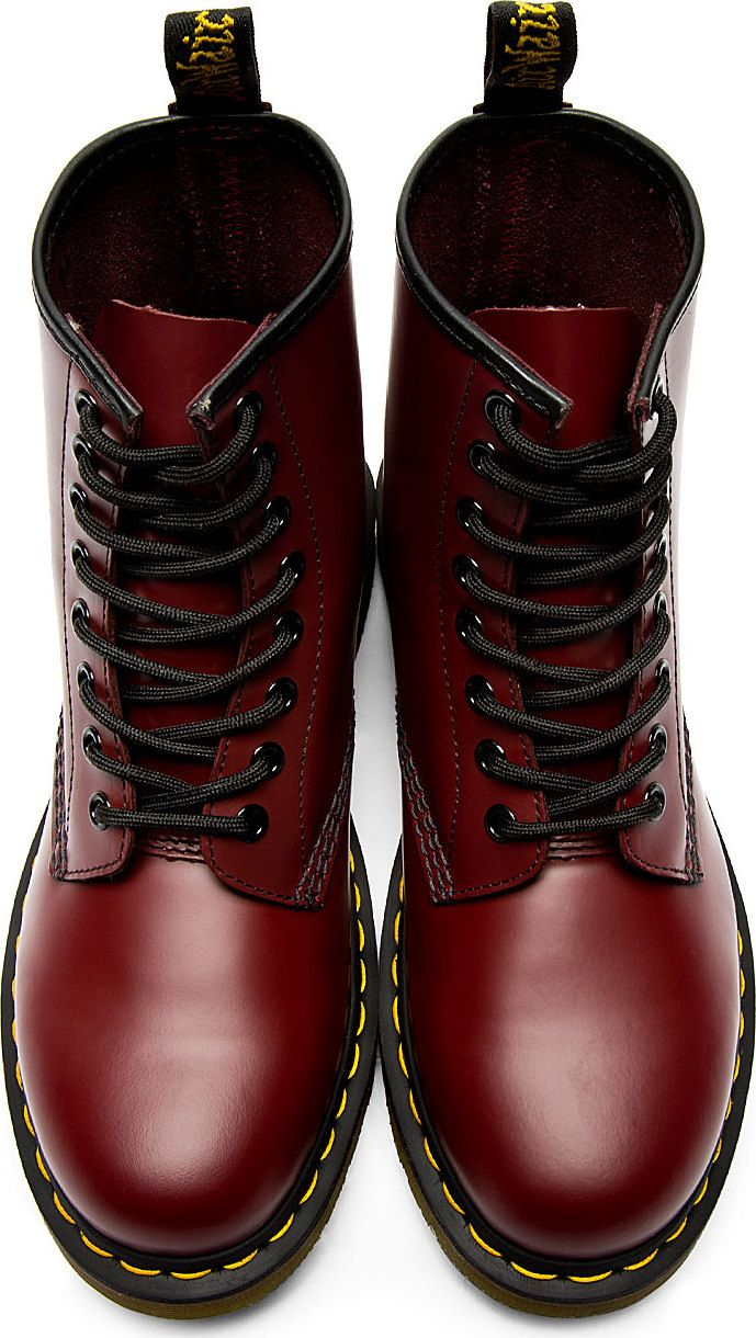 ffall is coming...full swing. i need my BOOTS!!! Dr. Martens: Red Leather 1460 8-Eye Boots