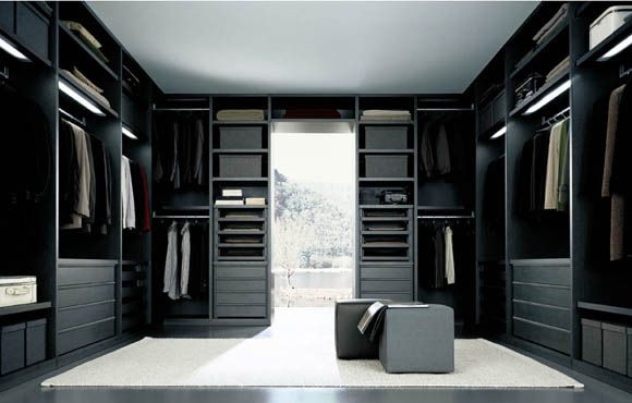 Amazing Walk In Closet Modern Minimalist Black Arts Design | Home Interior  Online