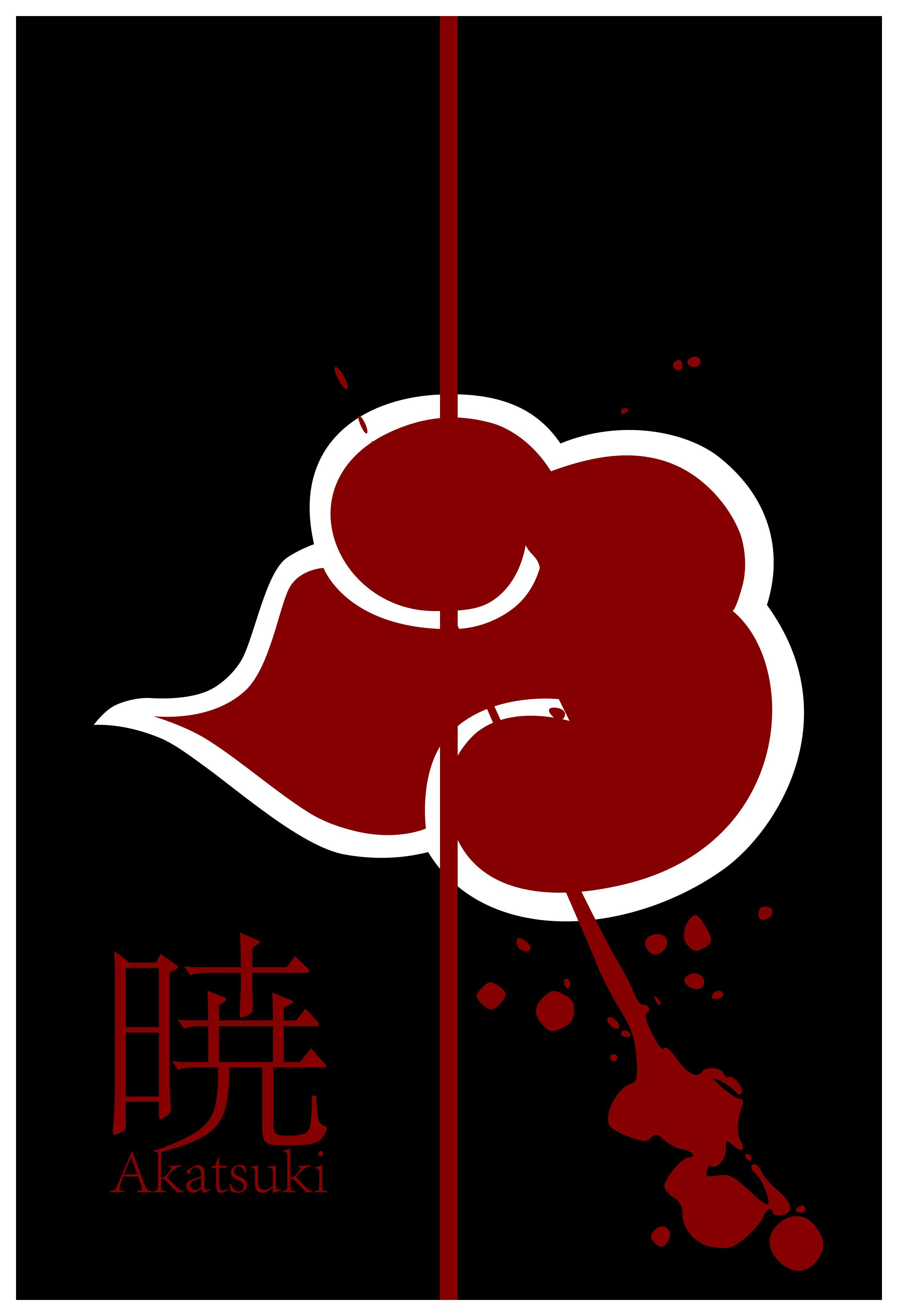 Minimalist akatsuki poster with english by porjin