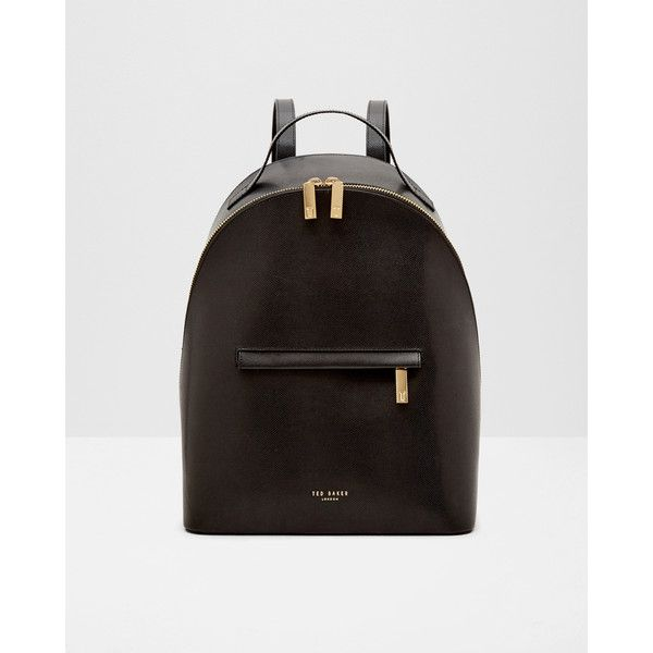 350bbad9d Ted Baker Cross grain leather backpack ( 210) ❤ liked on Polyvore featuring  bags