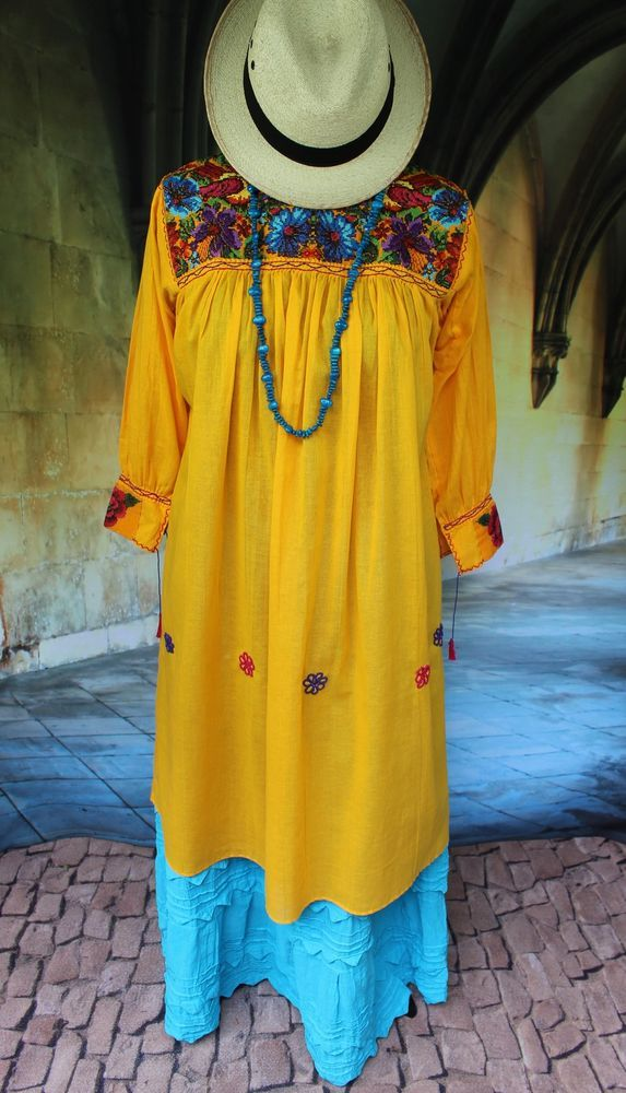 New Style Yellow Amp Multi Color Dress Mayan Chiapas Mexico