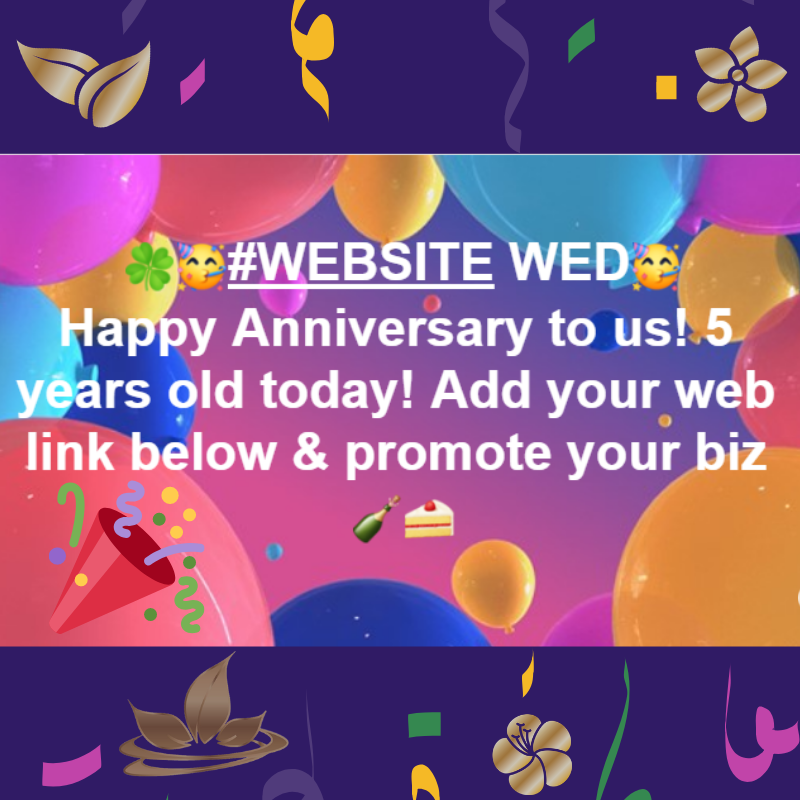 Welcome To Website Wednesday It S A Very Exciting Day As We Re Also Celebrating Our 5th Annivers Business Networking Networking Social Media Marketing