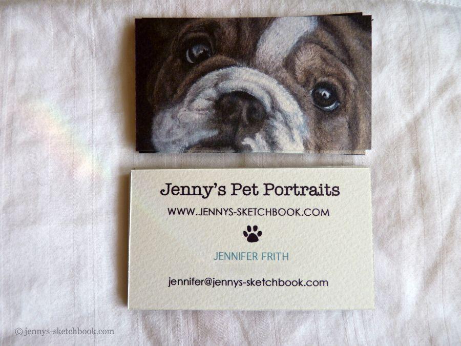 Business Cards Jenny S Sketchbook Business Cards Pets Pet Photography Business Artist Business Cards