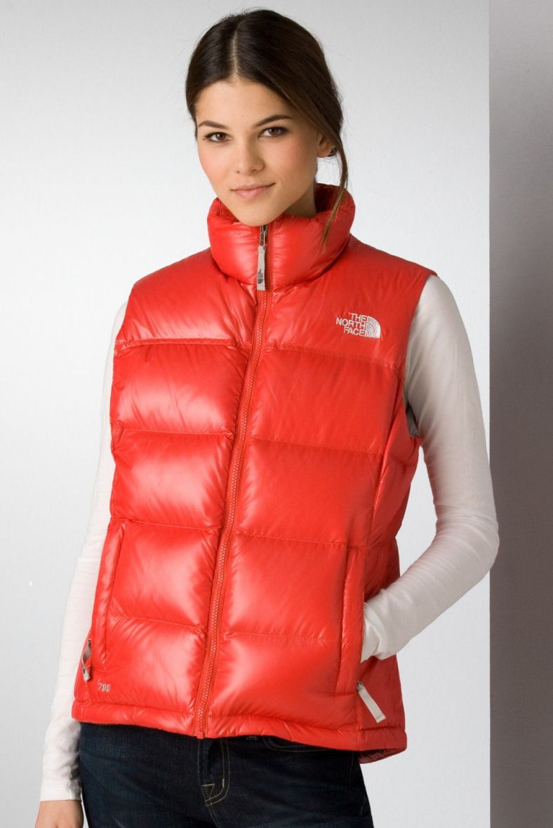 The North Face Novelty Nuptse Down Vest Red North Face Puffer Jacket Down Vest Puffer Jacket Women [ 1180 x 788 Pixel ]