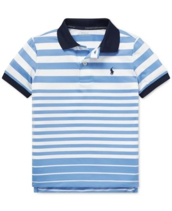 197bfd2e2b Polo Ralph Lauren Toddler Boys Striped Performance Lisle Polo - Blue 2T