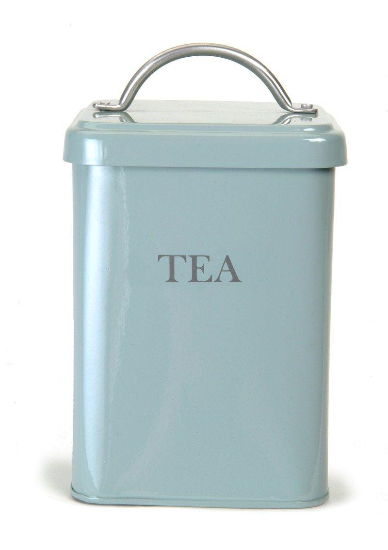 Tea Canister - Shutter Blue by gardentrading.co.uk | Sueños en metal ...