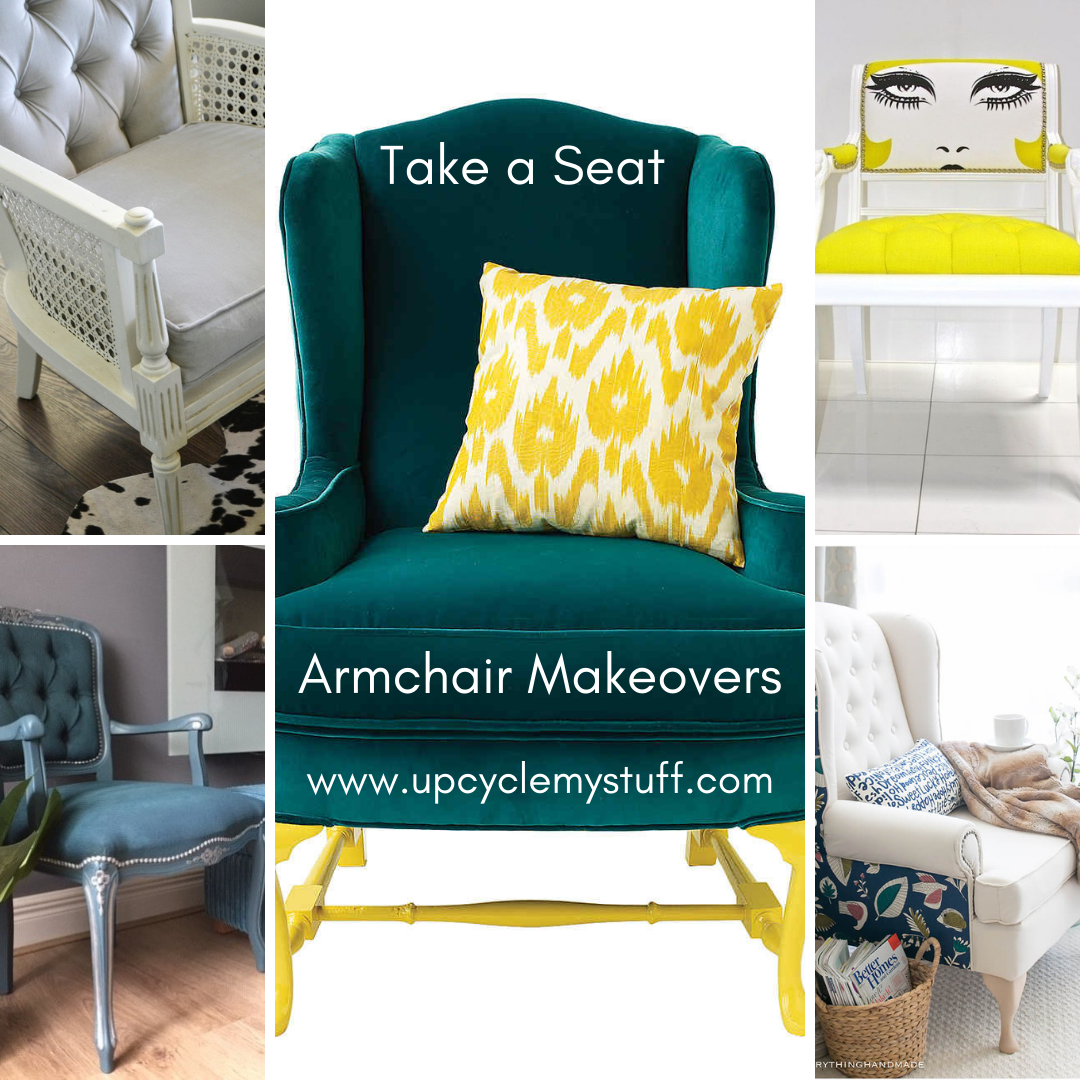 Armchair Makeover Inspiration Our Top Upcycled Armchair Ideas Armchair Take A Seat Fabric Painting