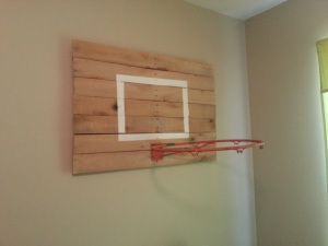 Vintage modern sports bedroom kolby 39 s room basketball - Indoor basketball hoop for bedroom ...