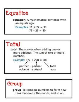 Math Expressions Unit 1 Vocabulary Cards Math Expressions Vocabulary Cards Math