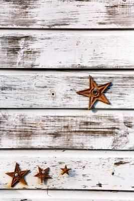 stars on whitewash wood