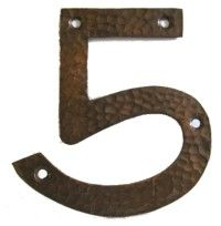 Arts And Crafts Style House Numbers Copper House Craftsman House Numbers House Numbers