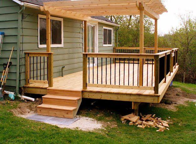 small decks - Google Search | Deck with pergola, Concrete ...