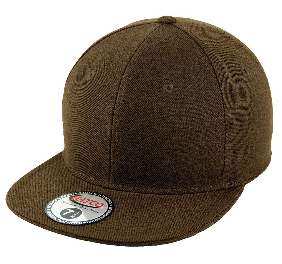 Blank flat fitted cap brown fitted caps baseball hats