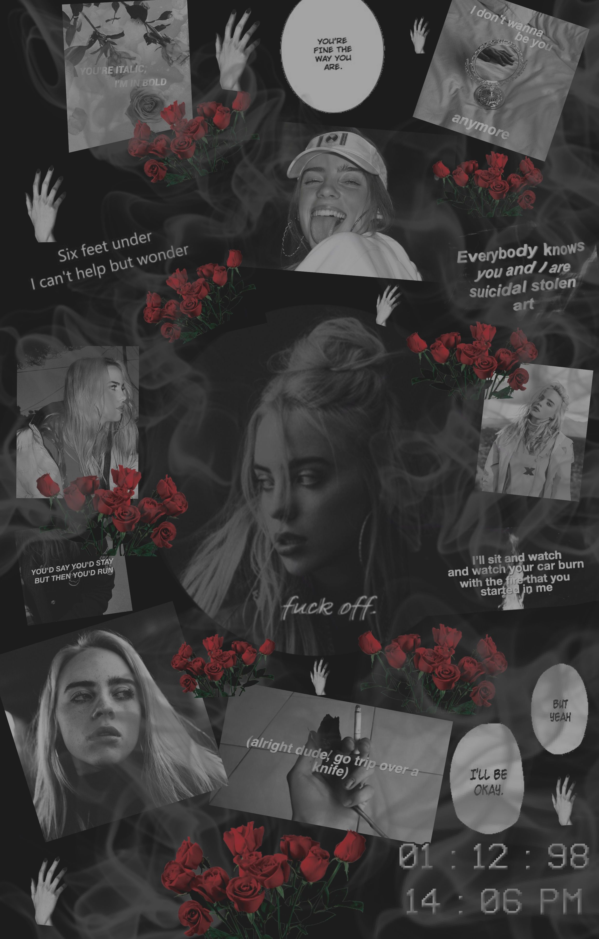 I Made This Myself She Is Literally My Inspiration For Everything Billie Billie Eilish Aesthetic Wallpapers