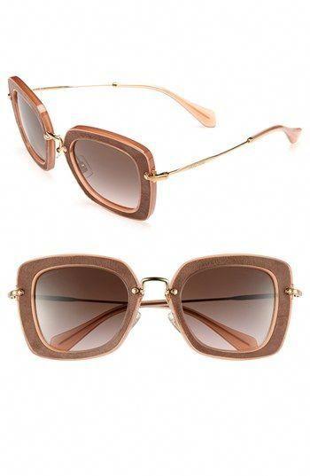 ecc92ac14e Miu Miu Retro Sunglasses available at  Nordstrom  MiuMiu
